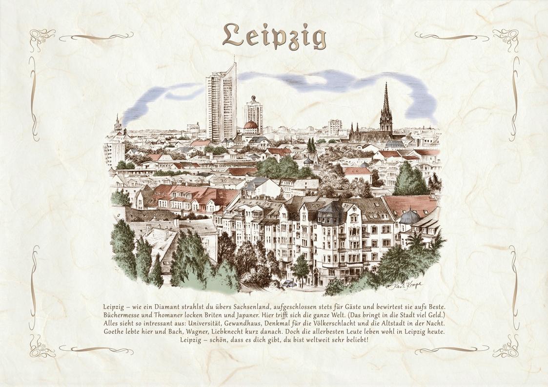 Zeichnungen koloriert Leipzig