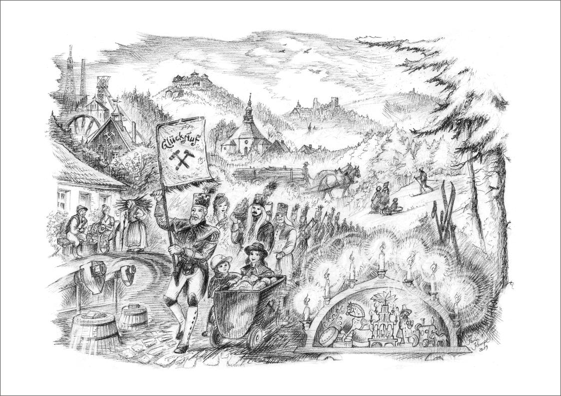 Bleistiftzeichnungen Erzgebirge