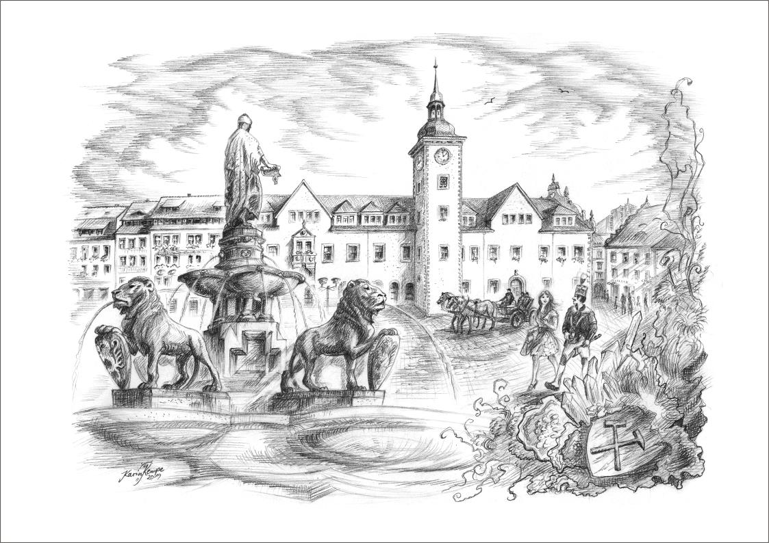 Bleistiftzeichnungen Freiberg