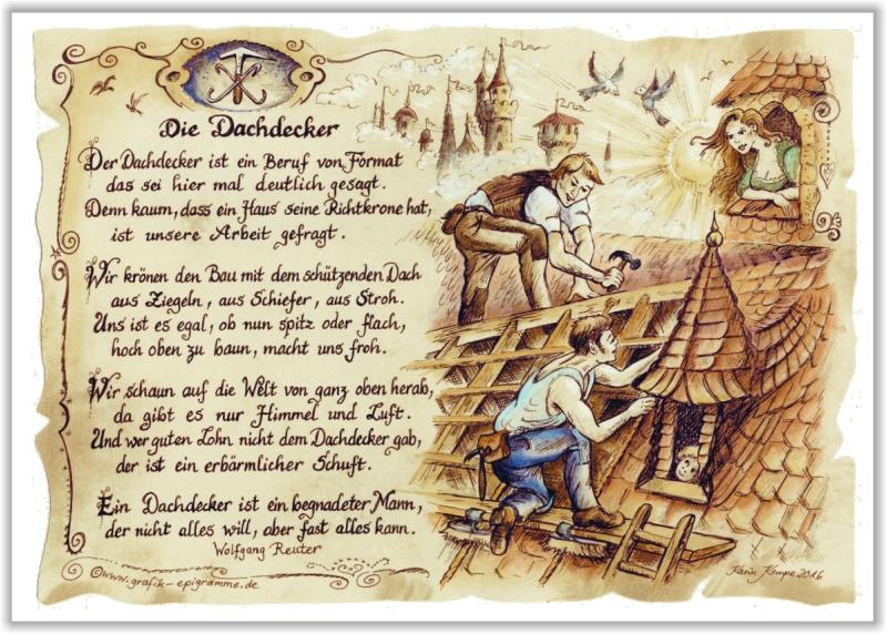 Dachdecker zeichnung  Geschenk Dachdecker | eBay