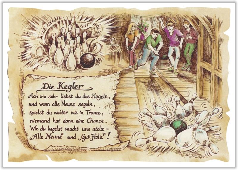 Geschenk für Kegler Kegeln Kegelverein Präsent Kegelsport