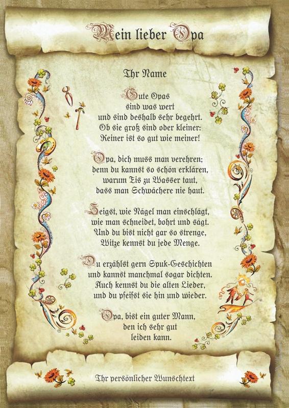 Verse fur opa zum geburtstag