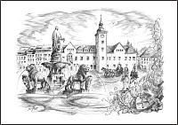 Obermarkt mit Rathaus