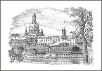 Frauenkirche mit Dampfer